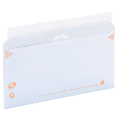 Enveloppes précasées fermeture adhésive
