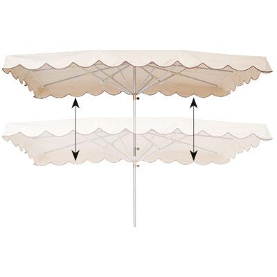 Parasol télescopique Écru 400 x 300 cm Le kit · Rouxel
