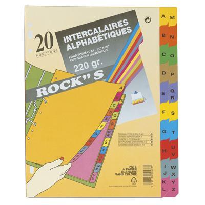 Intercalaires alphabétiques 20 positions