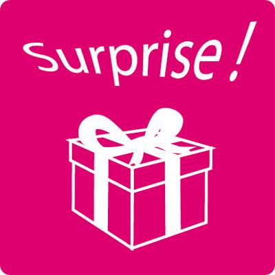 Étiquettes cadeaux adhésives Surprise !