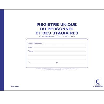Registre unique d'inscription du personnel et des stagiaires