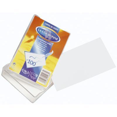 Cartes De Visite Blanc 82 X 128 Mm Pqt 100 Rouxel