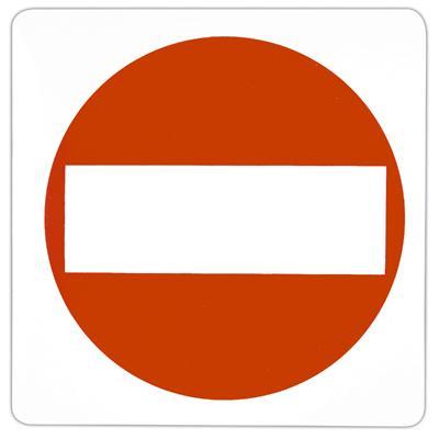 Pictogramme adhésif Passage interdit