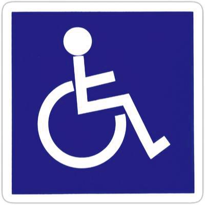 Pictogramme adhésif Handicapé