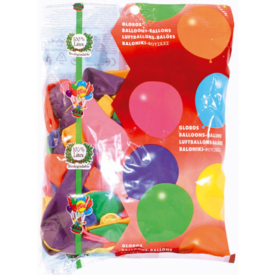 Ballons couleurs assorties