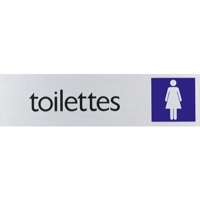 Plaque alu Toilettes Dames