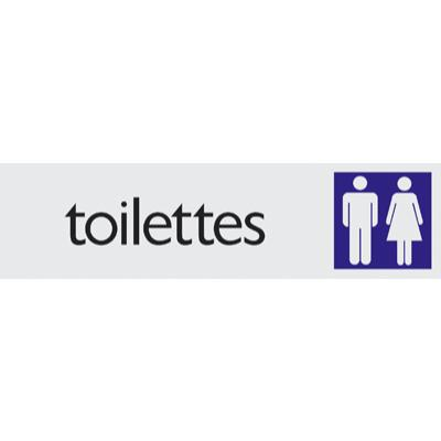 Plaque alu Toilettes