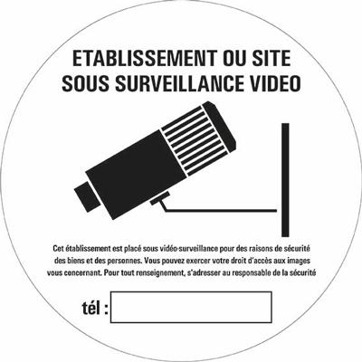 Disque Magasin sous surveillance vidéo