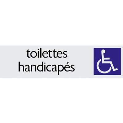 Plaque alu Toilette Handicapés
