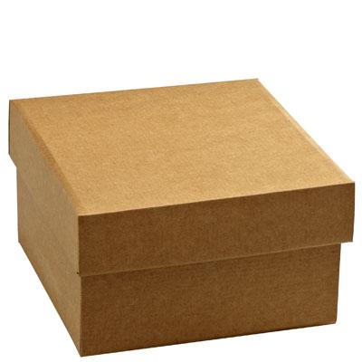 bo tes en carton avec couvercle kraft naturel l 20 5 x p 20 5 x h 12 cm. Black Bedroom Furniture Sets. Home Design Ideas
