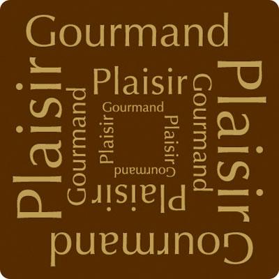 """Étiquettes cadeaux adhésives """"Plaisir Gourmand"""""""