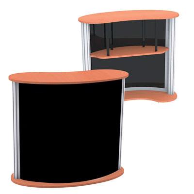 Comptoir modulaire courbe transportable
