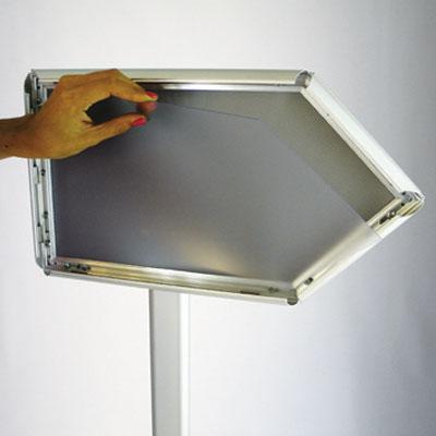 Panneau d'affichage flèche A4 horizontal