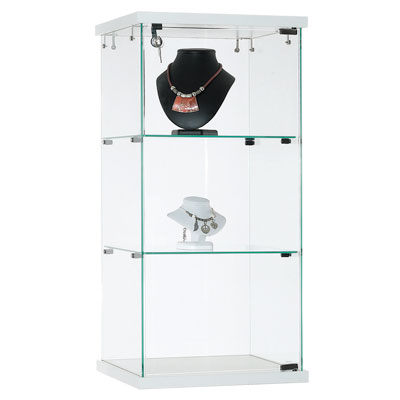 Comptoir vitrine en verre trempé