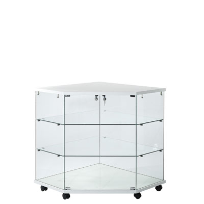 comptoir vitrine d 39 angle en verre tremp. Black Bedroom Furniture Sets. Home Design Ideas