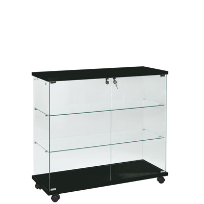 comptoir vitrine en verre tremp. Black Bedroom Furniture Sets. Home Design Ideas