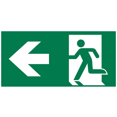 Plaque de signalisation Sortie de secours