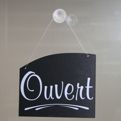 Plaque réversible Ouvert/Fermé