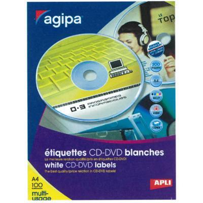 Étiquettes CD/DVD adhésives