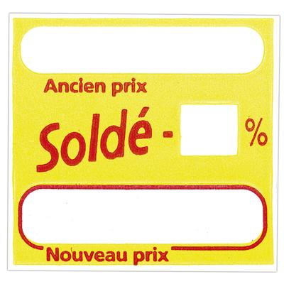 Étiquettes adhésives Soldé