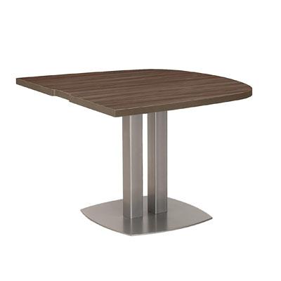 Table de réunion 2 coins courbes