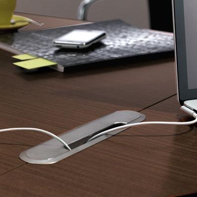 Passe-câbles pour tables de réunion