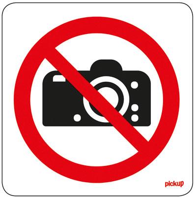 Pictogramme adhésif Interdit aux photos