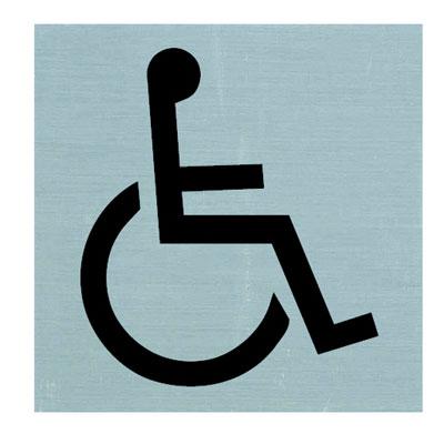 Plaque alu adhésive Handicapé