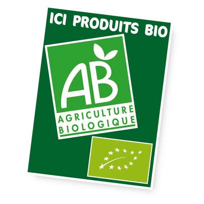 Panneau Ici produits bio