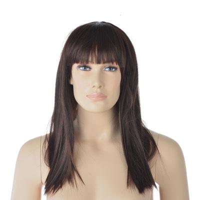 Perruque femme cheveux longs avec frange
