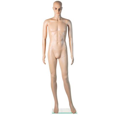 Mannequin homme sans perruque bras le long du corps