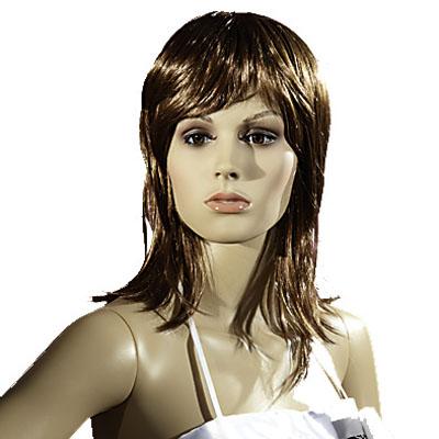 Perruque femme cheveux longs châtains