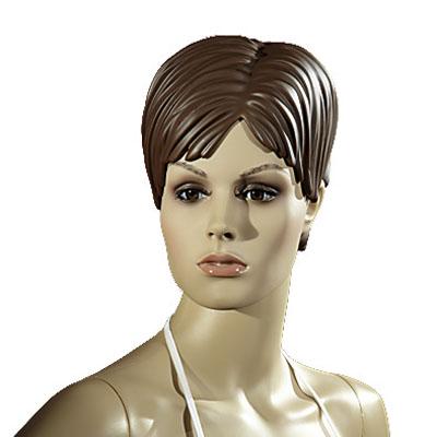 Perruque femme cheveux courts châtains
