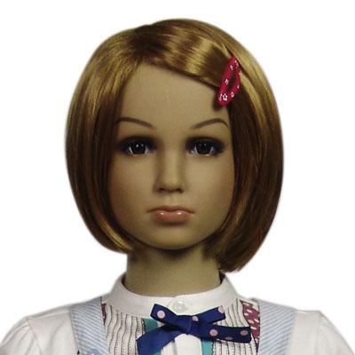 Mannequin fille 5 ans avec perruque cheveux mi-longs