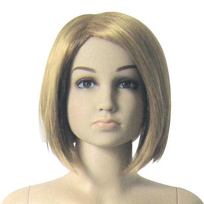 Mannequin fille 6 ans avec perruque