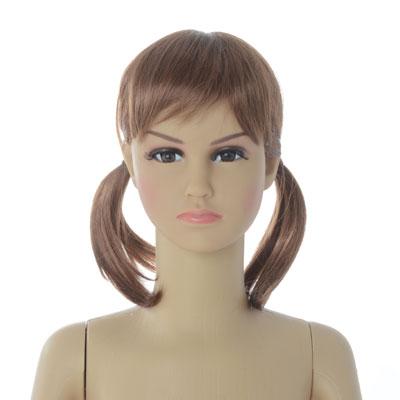 Perruque fille cheveux longs châtains