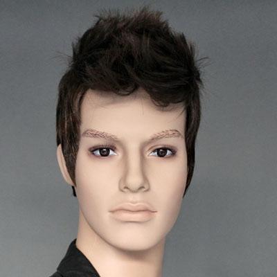 Perruque homme cheveux courts bruns Brun