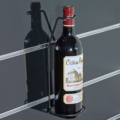 Support bouteille époxy pour panneaux rainurés