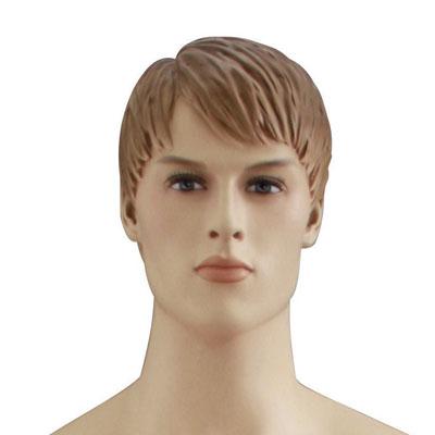 Mannequin homme, cheveux sculptés châtain claire