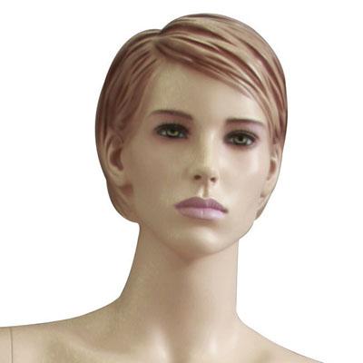 Mannequin femme, cheveux sculptés