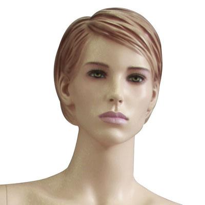 Mannequin femme, cheveux sculptés, mains sur les hanches