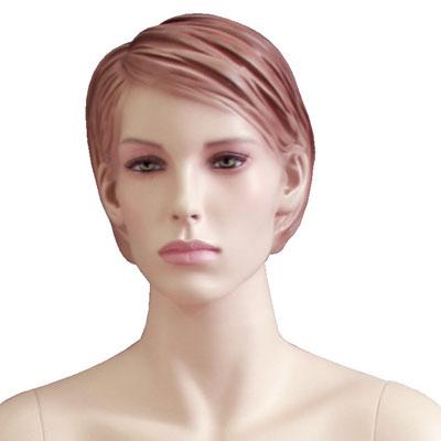 Mannequin femme assise, cheveux sculptés
