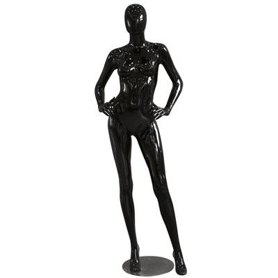 Mannequin femme, finition laquée, mains sur les hanches