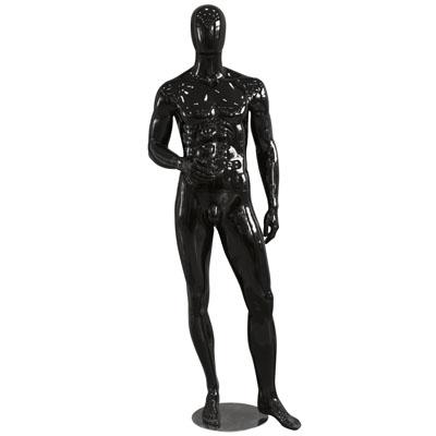 Mannequin homme, finition laquée, main droite sur la hanche
