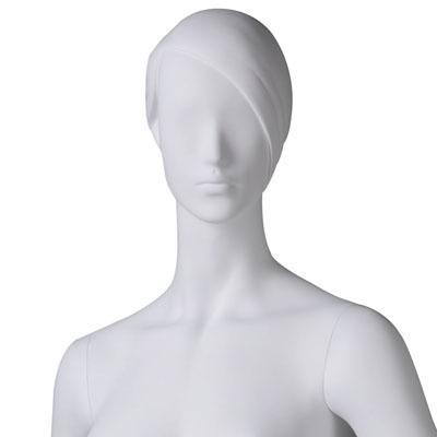 Mannequin femme, tête et cheveux sculptés