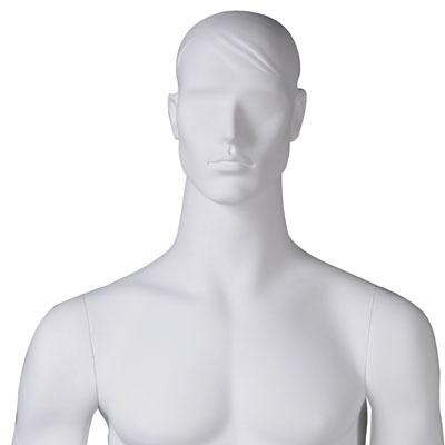 Mannequin homme, tête et cheveux sculptés