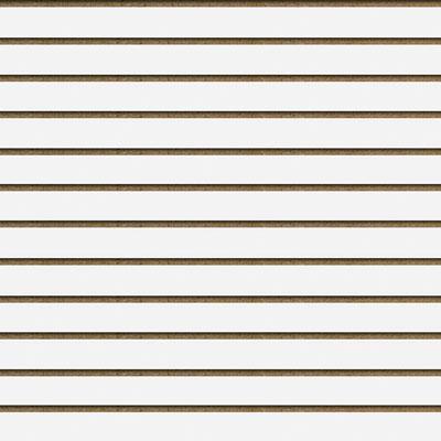 Panneaux rainurés Blanc Craie, entraxe 10 cm