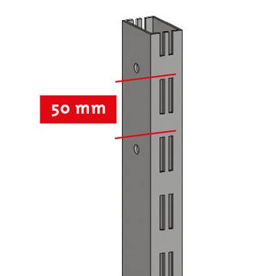 Montant 2 faces double perforation