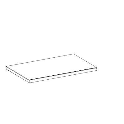 Tablette tôle monobloc