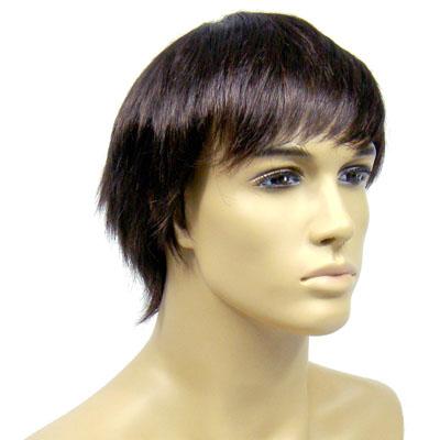 Perruque homme cheveux bruns